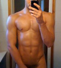 Hunk Guy Showing His Hot Muscled Body