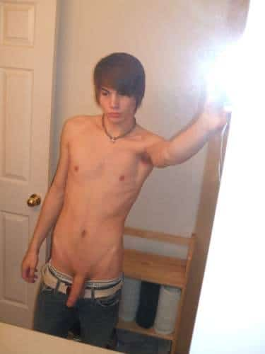 Slim Guy Take His Pants Down To Show His Dick