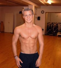 Handsome Blonde Guy Show Hot Abs