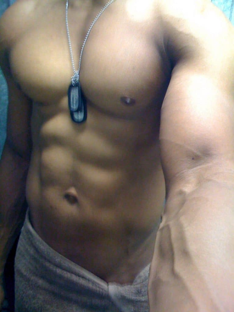 Hunk Boy Show Off His Muscled Body