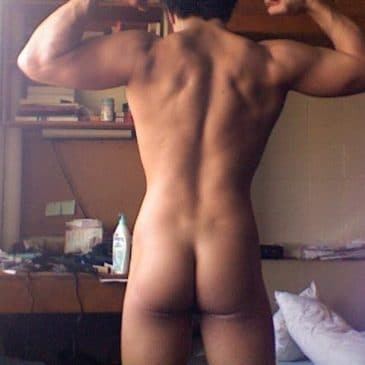 Muscled Boy Sjowing His Hot Ass
