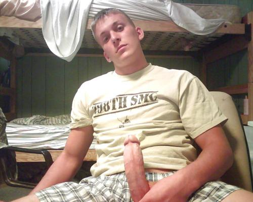 Webcam Boy Holding His Hard Cock