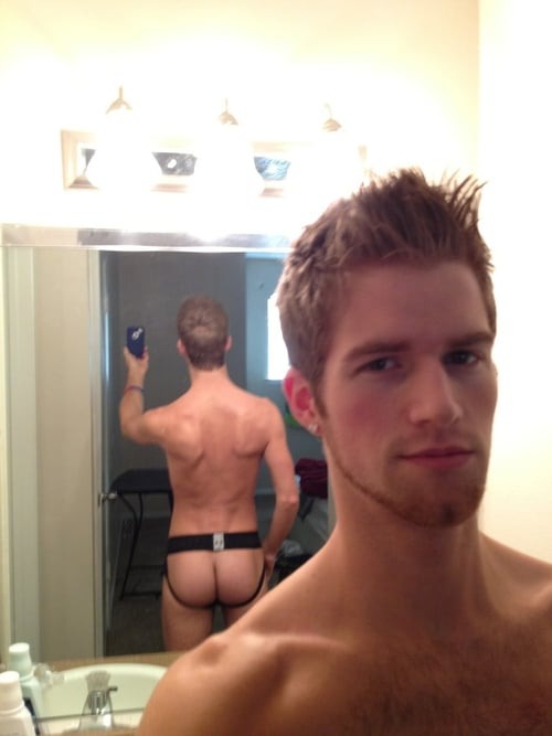 Cute Guy Taking Mirror Pics Of His Butt