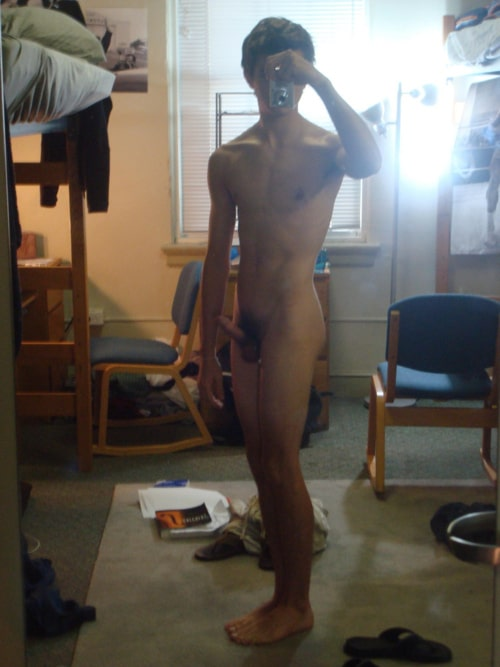 Horny Boy Taking Nude Self Pictures